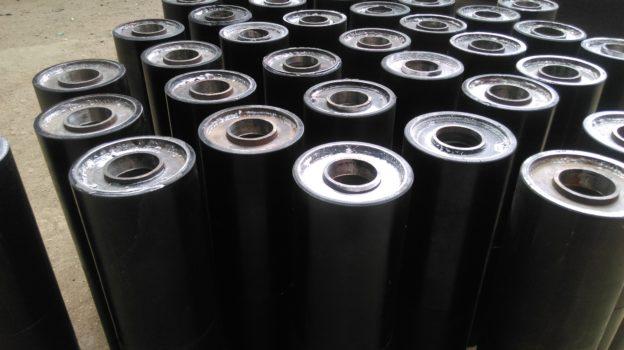 Ролики конвейерные футерованные полиуретаном